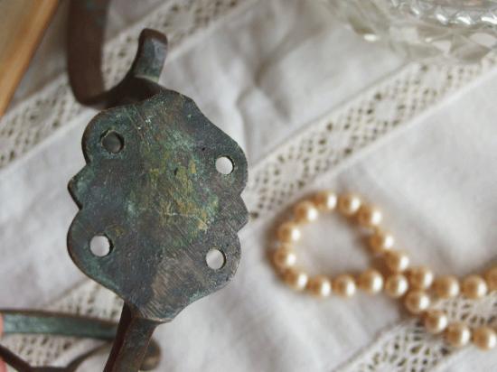 フランスアンティーク 真鍮のコートフック