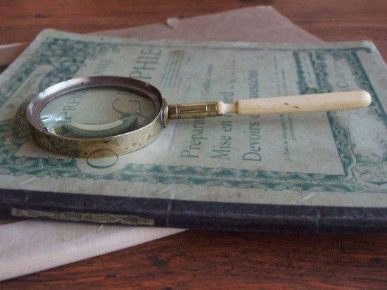 イギリス 真鍮とボーンのアンティークルーペ