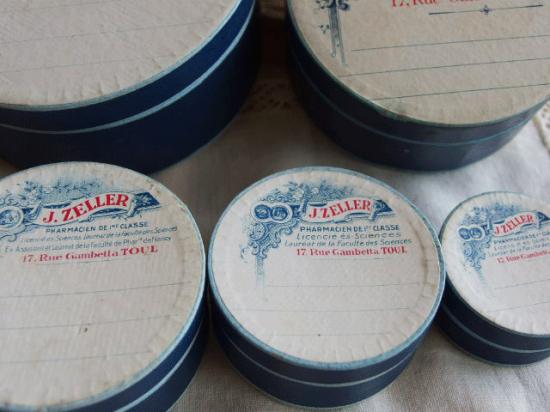 フランスアンティーク 薬の紙箱 5個セット