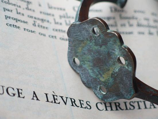 フランス  真鍮製 蔓のアンティークフック(2)
