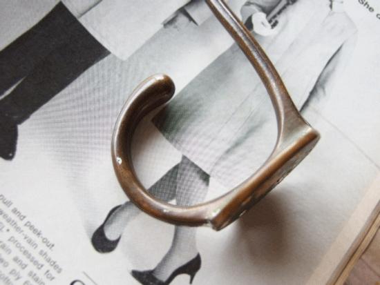 イギリス 真鍮のシングルアンティークフック