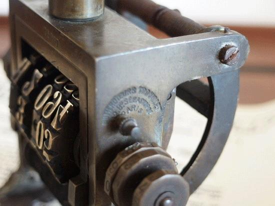 フランス製 アンティーク ナンバリングスタンプ