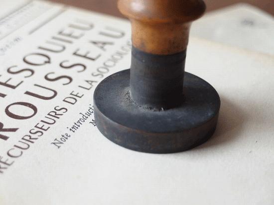 フランス アンティーク 木製ハンドル付きスタンプ