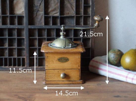 アンティーク プジョーコーヒーミル(木と真鍮)