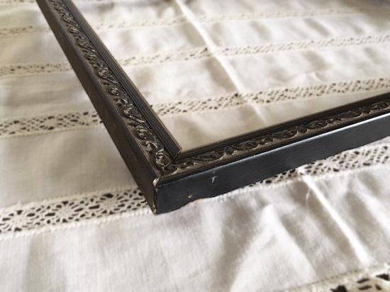 フランス アンティークフレーム(木製黒の蔓模様)
