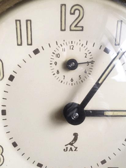 フランス JAZ クリーム色の目覚まし時計