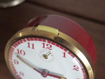 JAZ CRESCENDO 赤の目覚まし時計(箱付き)
