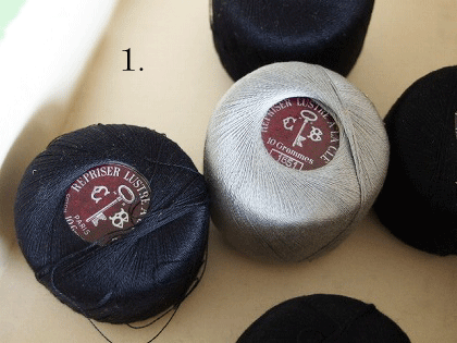 カルティエ・ブレッソン アンティーク紙製の糸箱(1)