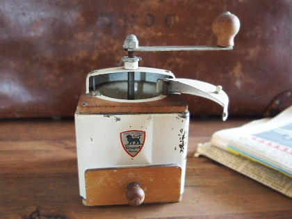 ヴィンテージ プジョーコーヒーミル(アイボリー)