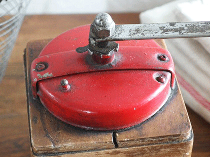 ヴィンテージ プジョーコーヒーミル(赤)