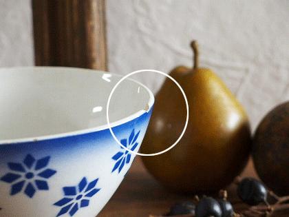 Badonviller 青いお花のカフェオレボウル