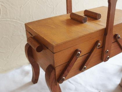 フランス アンティーク猫脚のソーイングボックス