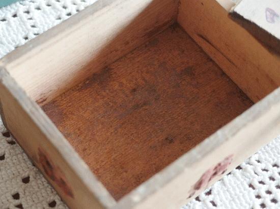アンティーク  フランスの郵便用木箱(スライド蓋)
