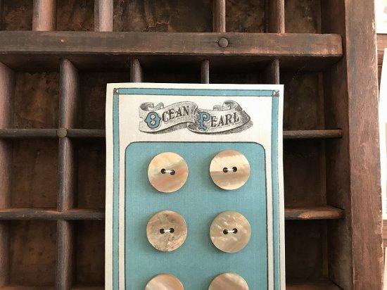 イギリス ヴィンテージのボタンシート 4枚セット