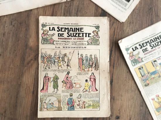 アンティーク雑誌「LA SEMAINE DE SUZETTE」2冊セット(1)