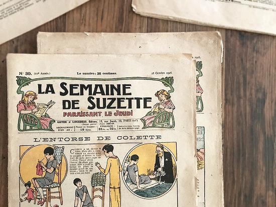 アンティーク雑誌「LA SEMAINE DE SUZETTE」2冊セット(2)