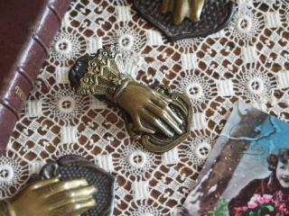 アンティーク 真鍮製 ハンドクリップ(小)