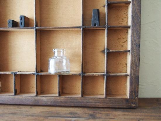アンティーク プリンタートレイと小さな雑貨のセット