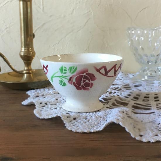 アンティーク 薔薇のカフェオレボウル(バドンヴィレー)