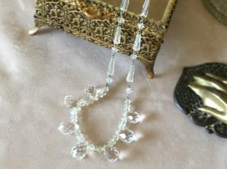アンティークジュエリー クリスタルガラスのネックレス