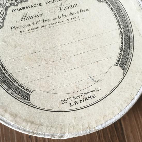 フランスアンティーク 大きな薬の紙箱(2)