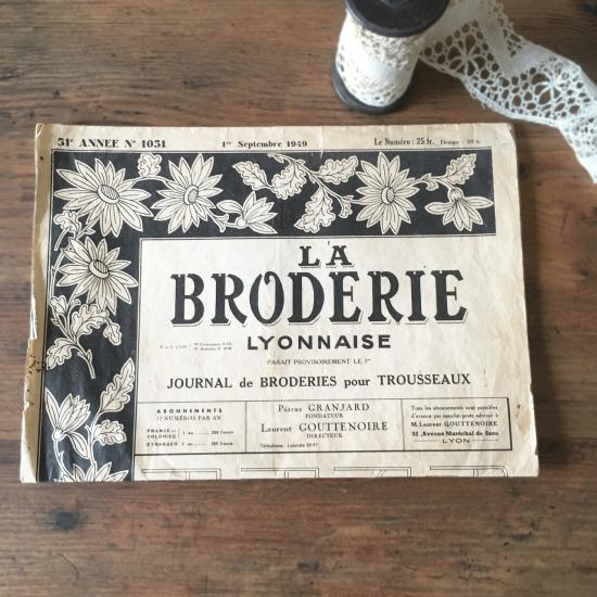 アンティーク 刺繍新聞(LA BRODERIE )2枚セット