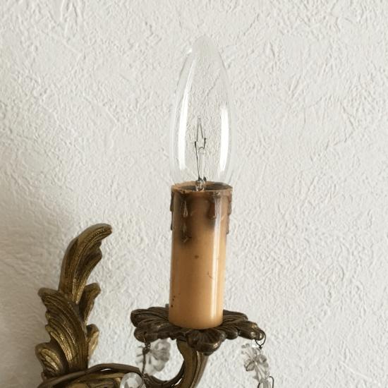 フランスアンティーク シャンデリアのブラケット照明