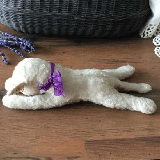 ヴィンテージシュタイフ 眠り羊 フロッピーランビー(Floppy Lamby)