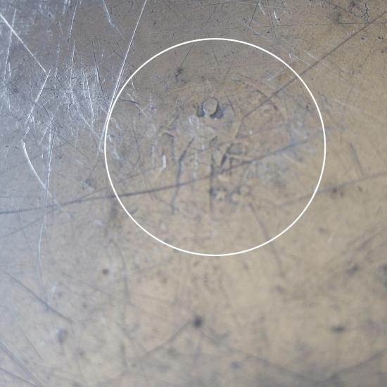 ドイツアンティーク ピューター製 花リムプレート(25cm)
