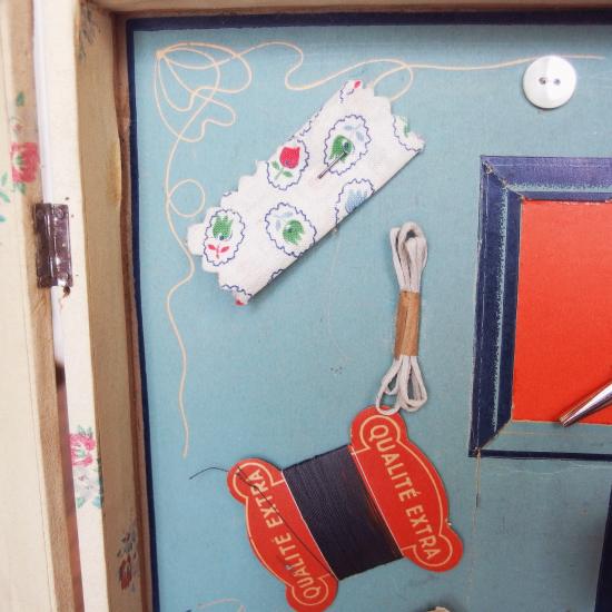 フランスアンティーク ドールハウス おままごと用ソーイングセット