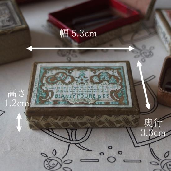 フランスアンティーク BLANZY POURE & CIE 紙箱に入ったペン先(グリーン �12)