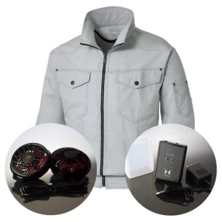 サンエス空調風神服KU97100ハイパワーファンバッテリー・長袖ブルゾン空調服セット