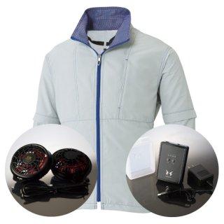 サンエス空調風神服KU91620ハイパワーファンバッテリー・袖取り外し長袖ブルゾン空調服セット