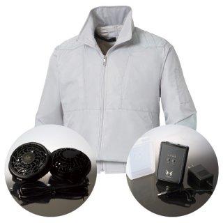 サンエス空調風神服KU92200レギュラーファンバッテリー・チタン加工肩パッド付長袖ブルゾン空調服セット