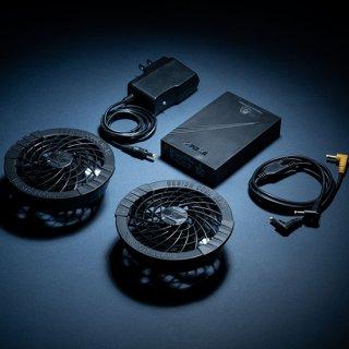 シンメンフルセットパッケージ(ファン2個・二股コード・バッテリー・アダプター)SK-31