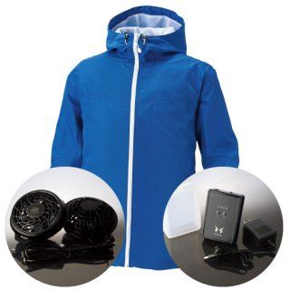 サンエス空調風神服KU90700レギュラーファンバッテリー・フード付長袖ブルゾン空調服セット