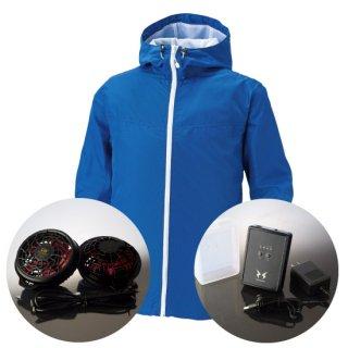 サンエス空調風神服KU90700ハイパワーファンバッテリー・フード付長袖ブルゾン空調服セット