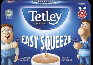 テトリ−・イージースクイーズ 80袋・80袋入り・Tetley Tea Easy Squeeze 80TB