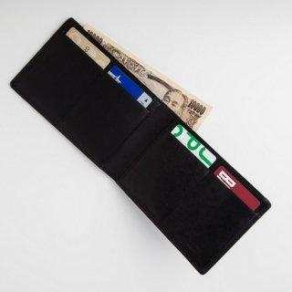 【THINly(スィンリー)】ヒップポケット派に最適なカードたっぷり二つ折り財布(札入大)ファスナー小銭入れ付