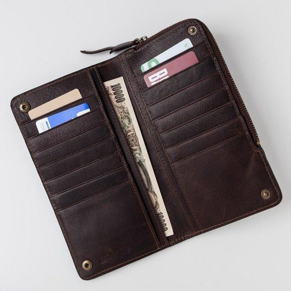 スマホがしまえる2つ折長財布