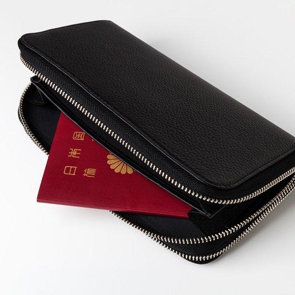 【BASE LEATHER(ベースレザー)】パスポートケース(ダブルラウンドファスナー仕様)