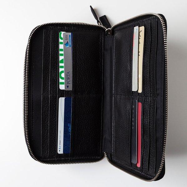 【BASE LEATHER】パスポートケース(ダブルラウンドファスナー仕様)