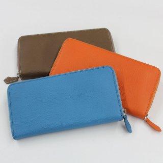 【のむら】マチが大きく開いて見やすいラウンド長財布