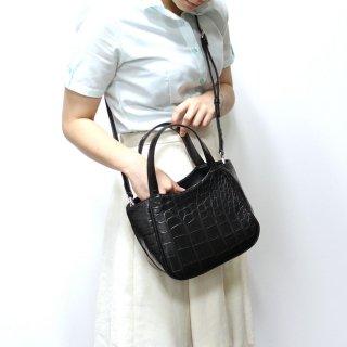 【S.sakamoto】マットクロコダイルミニトートバッグ