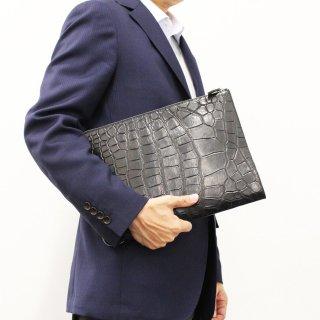 【S.sakamoto】マットクロコダイルクラッチバッグ