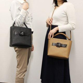 【S.sakamoto】シュリンクレザー×マットクロコダイル トートバッグ
