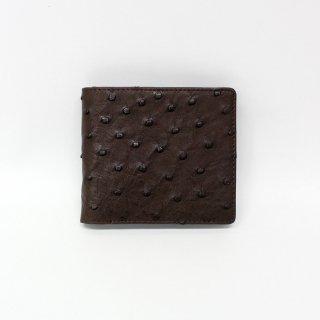 【S.sakamoto】オーストリッチ二つ折り財布