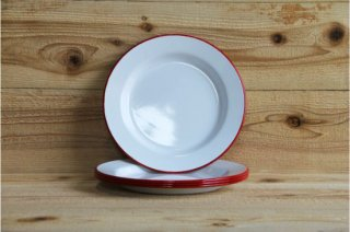 FALCON | 24CM PLATES Pillarbox Red rim Set of four<br/>ファルコン プレートセット レッド 4枚セット