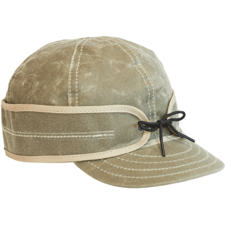Stormy Kromer | The Waxed Cotton Cap Field Tan 7-5/8<br/>ストーミークローマー ワックスコットンキャップ ブラウン