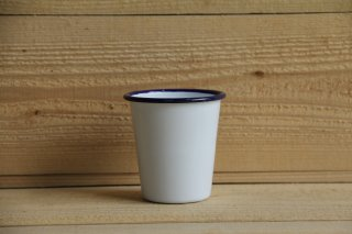 FALCON | TUMBLERS White with Blue rim<br/>ファルコン タンブラー ホワイト